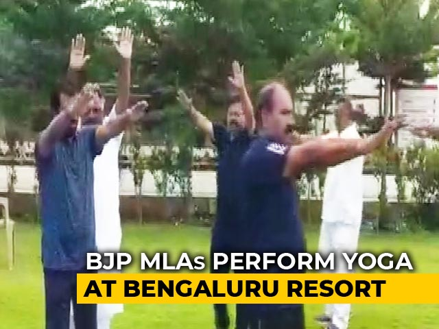 Video : Yoga At Luxury Resort For BJP Lawmakers Waiting For Karnataka Floor Test