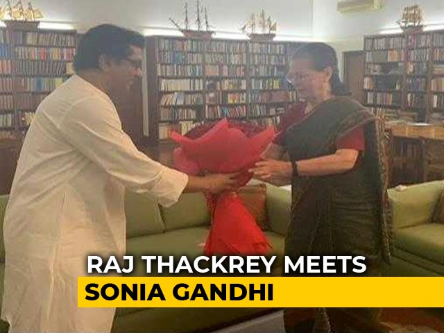 Video: Ahead Of Maharashtra Elections, Raj Thackeray Meets Sonia Gandhi