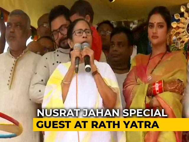 Video : Nusrat Jahan, With Mamata Banerjee At Rath Yatra, Sends A Message