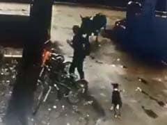 IIT बॉम्बे के कैंपस में फोन पर बात कर रहा था युवक, अचानक आ गया 2 सांडो की चपेट में, देखें- VIDEO