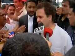 """Enjoying The Fight,"" Says Rahul Gandhi After RSS Defamation Hearing"