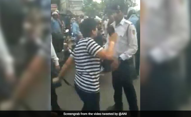 On Video, Delhi Woman Stopped For Riding Without Helmet Throws A Fit