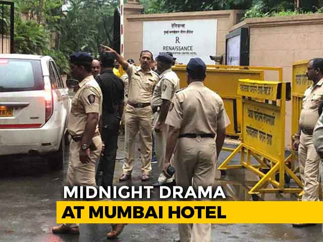 "Video : Karnataka Rebels Tell Mumbai Cops State Leaders May ""Storm"" Hotel"