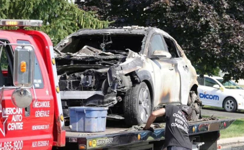 The Hyundai Kona Electric was parked in the garage when the explosion happened, according to the owner