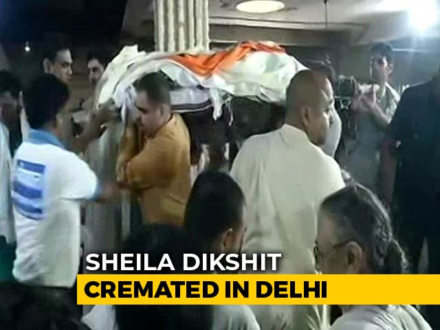 Video : Sheila Dikshit Cremated In Delhi With State Honours, Hundreds At Funeral