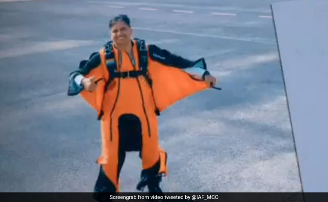 Pilot Does 'Wing Suit Skydive' From 8,500 Feet, In A First For Air Force