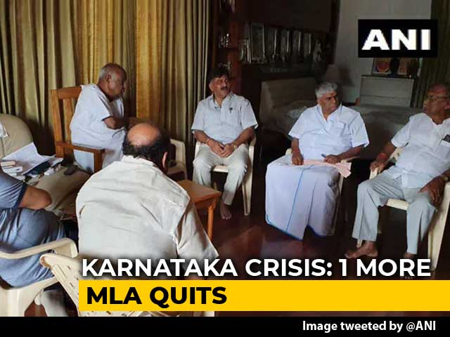 Video : Karnataka Government Plans Survival As Another Lawmaker Quits