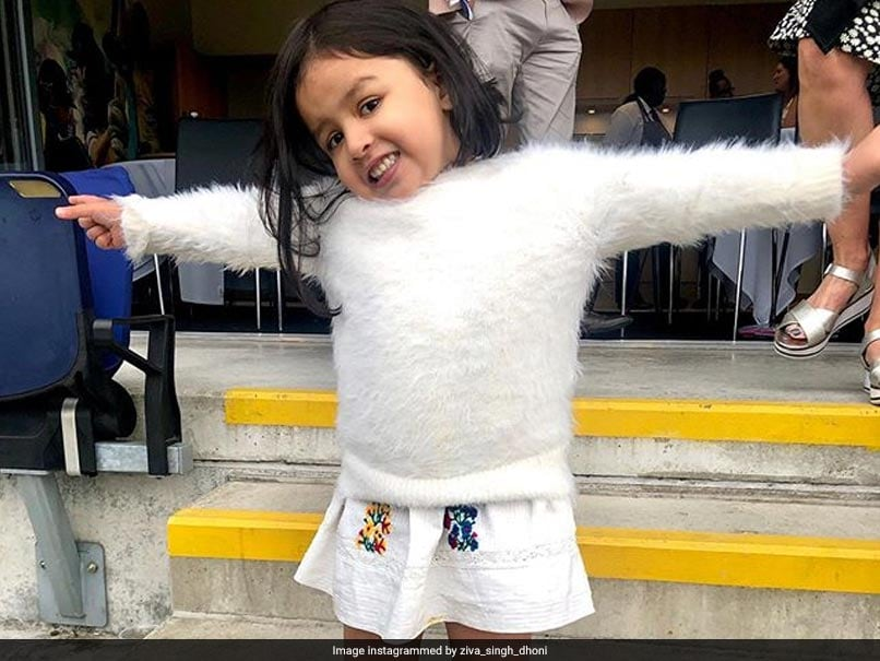 Watch: Ziva Dhoni Cheers For India From The Stands In Birmingham