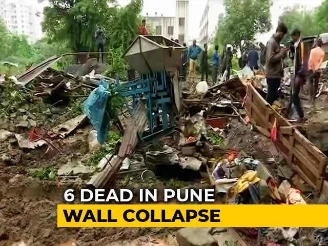 Video : 6 Killed After Wall Collapses In College In Pune After Heavy Rain