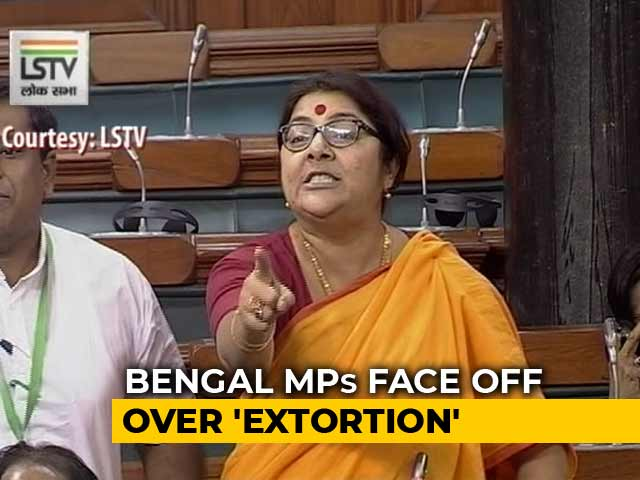 "Video : BJP's Locket Chatterjee vs Trinamool In Parliament Over ""Cut Money"""