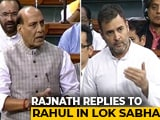 Video : Rahul Gandhi vs Rajnath Singh In Parliament After Wayanad Farmer Suicide