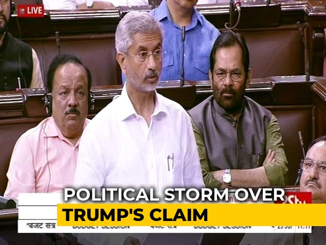"Video : ""No Such Request By PM"": Centre To Parliament On Trump's Kashmir Claim"