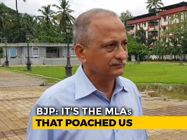 """Video : """"Totally Demoralised"""", Say BJP Workers As 10 Goa Congress Lawmakers Join"""