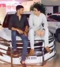 Telangana Minister's Grandson Seen Sitting Atop Police Van In TikTok Clip