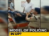 Video : On Video, Senior UP Cop Massages Feet Of Kanwar Pilgrim