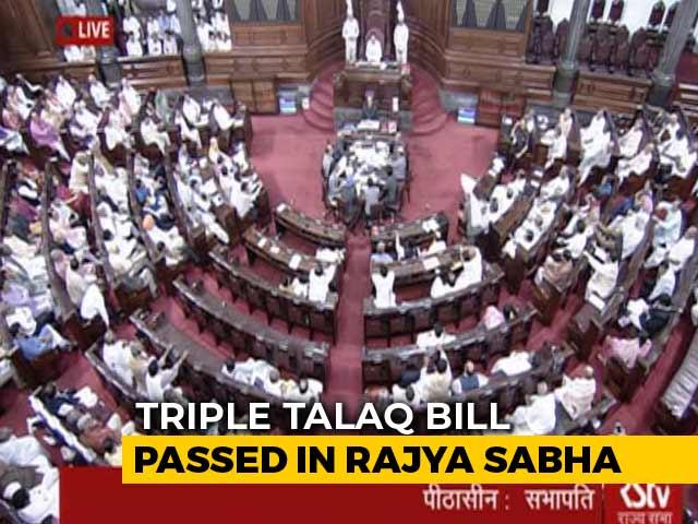 Video : Bill On 'Triple Talaq' Clears Rajya Sabha In Big Win For Modi Government