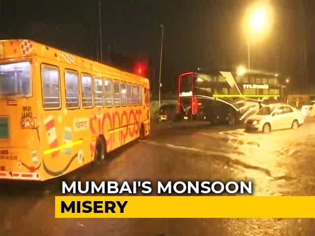 "Video : ""It's Nature's Fury..."": Suburban Trains Stopped In Rain-Hit Mumbai"