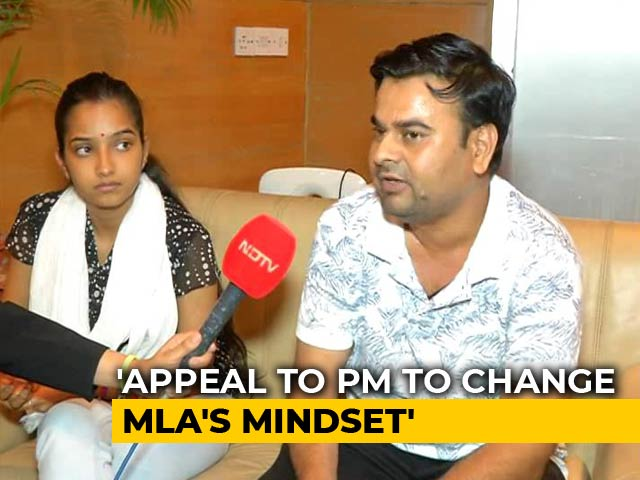 """Video : """"Feel Safer"""": BJP Leader's Daughter, Husband, Threatened Over Marriage"""