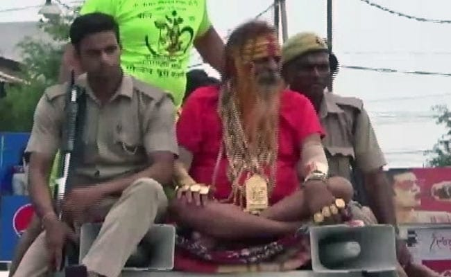 With 16 kilograms Of Gold, 'Golden Baba' Attends Kanwar Yatra In UP