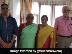 Sushma Swaraj Meets Kulbhushan Jadhav's Family