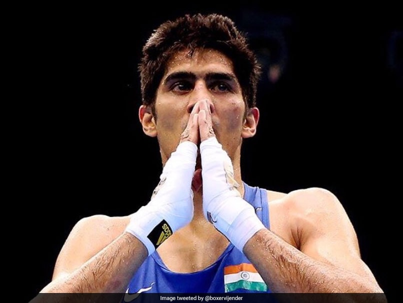 Neeraj Goyat and Vikas Krishan gave the challenge to Vijender Singh