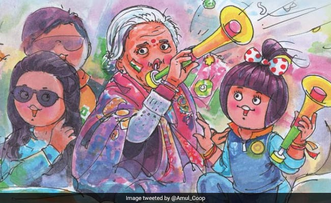 'Grandmother India': Amul's Tribute To Viral 87-Year-Old Cricket Fan