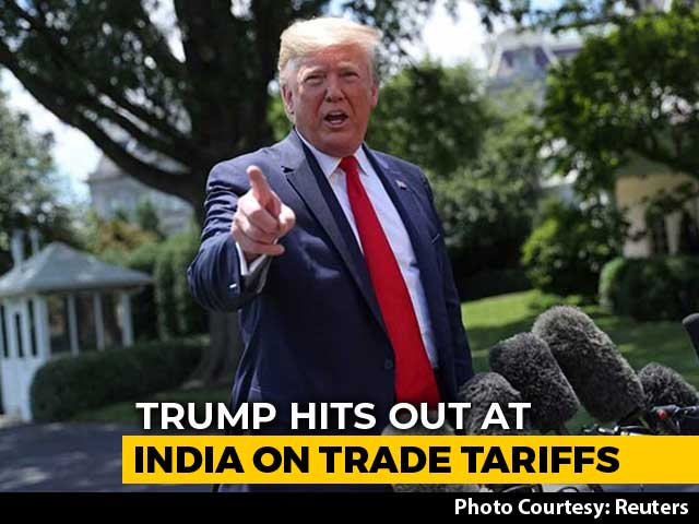 "Video : ""No Longer Acceptable"": Trump's New Tweet Attack On India Over Tariffs"