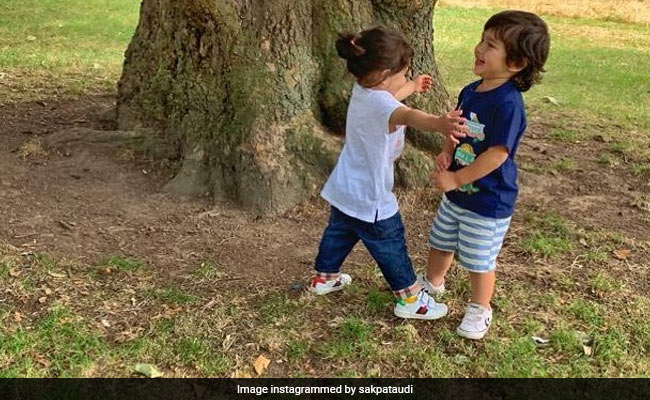 Cuteness Alert: Taimur And Inaaya's London Reunion Pic Is Here To Make Your Weekend Better