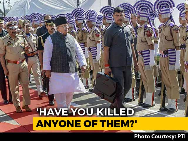 """Video : """"Kill Those Who Have Looted Kashmir"""": Governor Malik To Terrorists"""