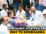 Video : Priyanka Gandhi Stopped On Way To Visit UP Land Dispute Victims' Families