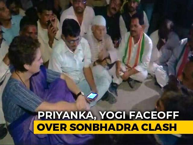 "Video : ""I Won't Leave..."" Says Priyanka Gandhi, Spends Night In UP's Mirzapur"