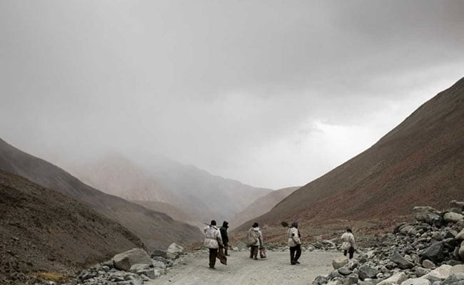 At Work Building One Of The World's Highest Roads - For Rs 40,000 Each