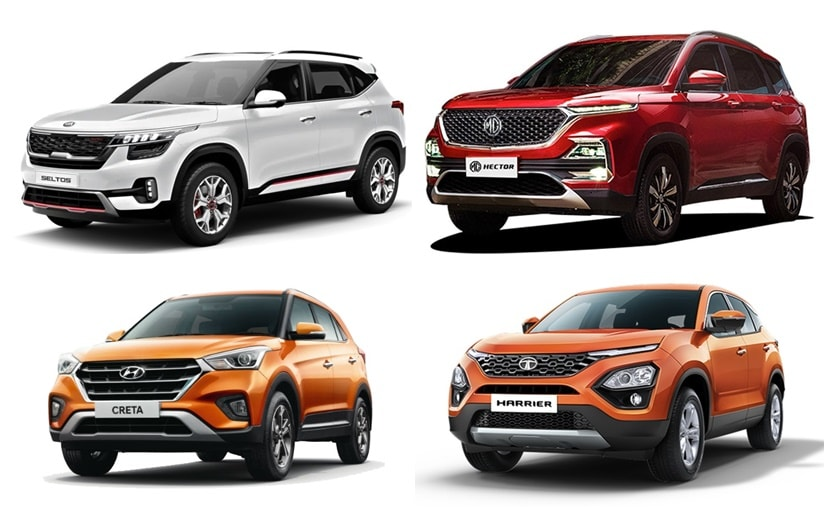 The Kia Seltos competes with MG Hector, Hyundai Creta, and Tata Harrier