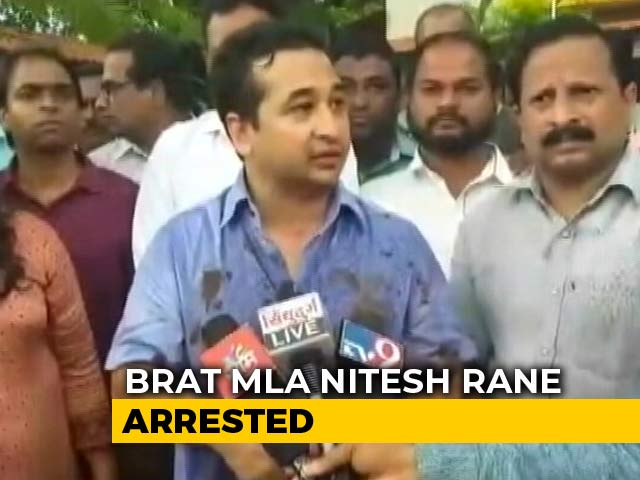 Video : Congress's Nitesh Rane Arrested For Leading 'Mud' Attack On Engineer