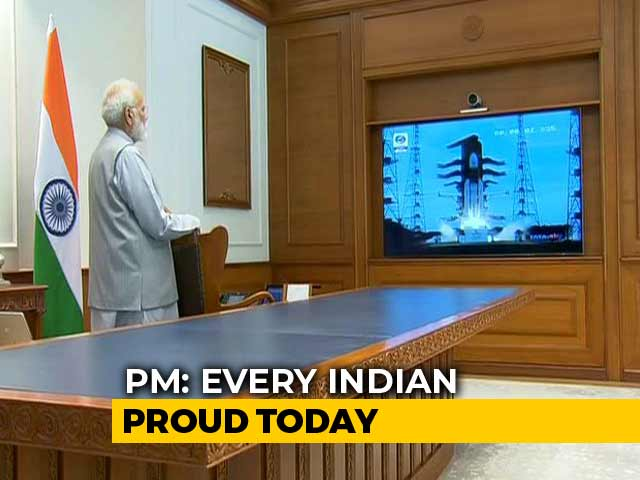 Video : PM's Shout-Out To ISRO After Chandrayaan 2 Launch; He Watched From Office