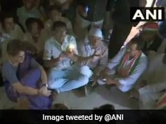 Priyanka Gandhi Sits In The Dark As Power Cut Hits Mirzapur Guest House