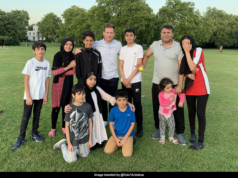 "Eoin Morgan ""Plays A Game"" With Afghan Family, Rashid Khan Calls Him Legend"