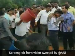 On Video, Congress Leader Assaults Engineer, Supporters Throw Mud At Him