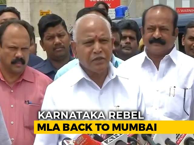"Video : ""Resign Immediately Or..."": BS Yeddyurappa's Warning For HD Kumaraswamy"