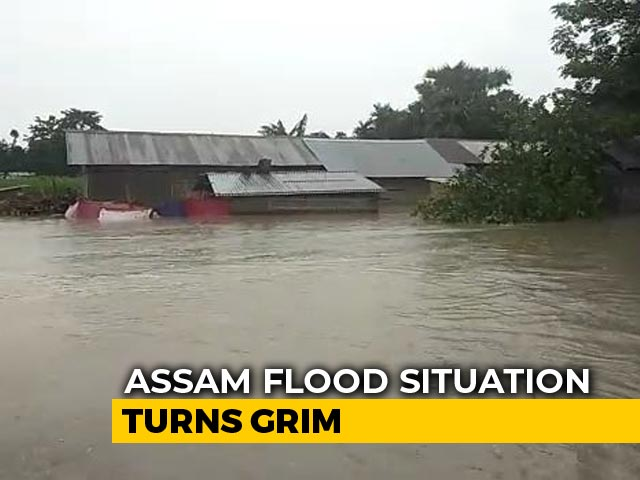 Video : 17 Assam Districts Flooded; No Ferry Services As Rivers Above Danger Mark