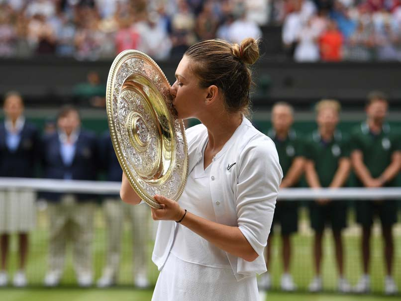 Sports Wimbledon champ Halep up to No. 4, Serena No