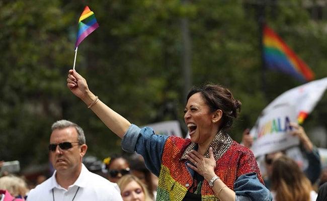 US Senator Kamala Harris Dances At Pride Parade In San Francisco