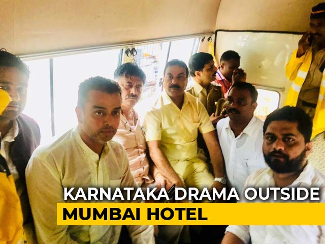 "Karnataka Congress Leader Fails To Meet Rebels, ""Escorted"" Out Of Mumbai"