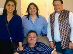 Rishi Kapoor And Neetu Kapoor Host Singer Anup Jalota In New York