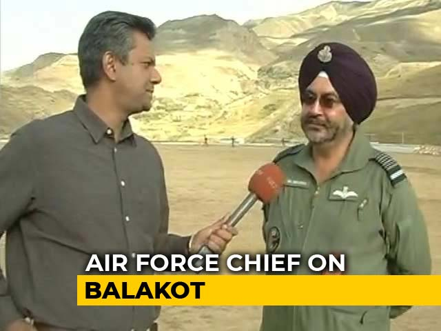Video : Should've Used Bombs That Destroyed Buildings: Air Force Chief On Balakot