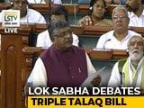 "Video : Ravi Shankar Prasad's ""Khamosh"" Dig During Triple Talaq Debate In Parliament"