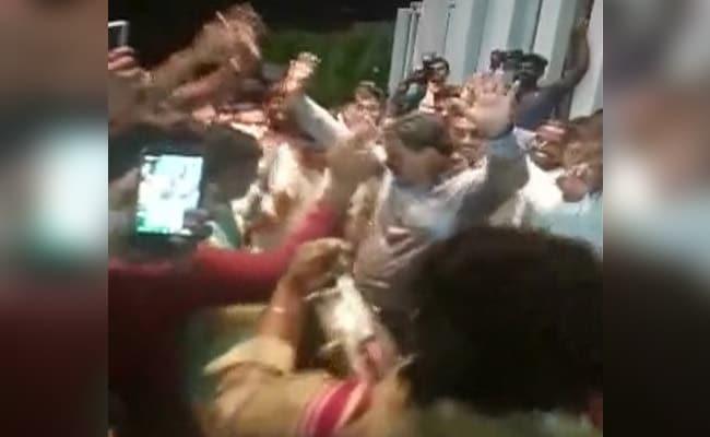 Fireworks Outside Bengaluru Hotel, BJP Lawmaker Dances After Trust Vote