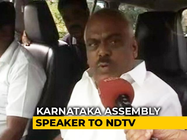 "Video : ""It Depends"": Karnataka Speaker On Deciding Resignations Of Rebel Lawmakers Today"