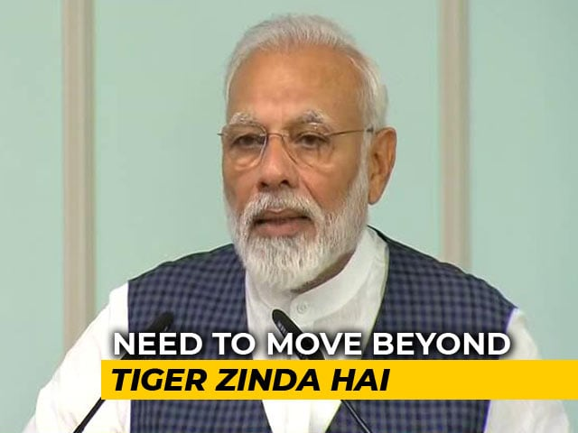 "Video : ""<i>From Ek Tha Tiger</i> To <i>Tiger Zinda Hai</i>..."": PM Cheers India's Tiger Census"