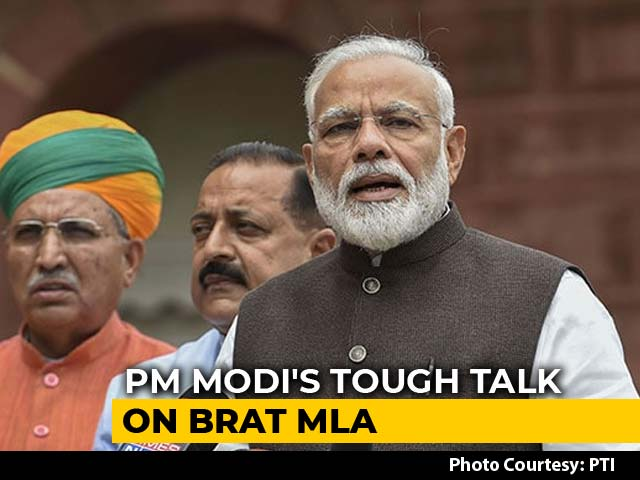 "Video : ""What Sort Of Language Is This,"" Said Furious PM On Akash Vijayvargiya"
